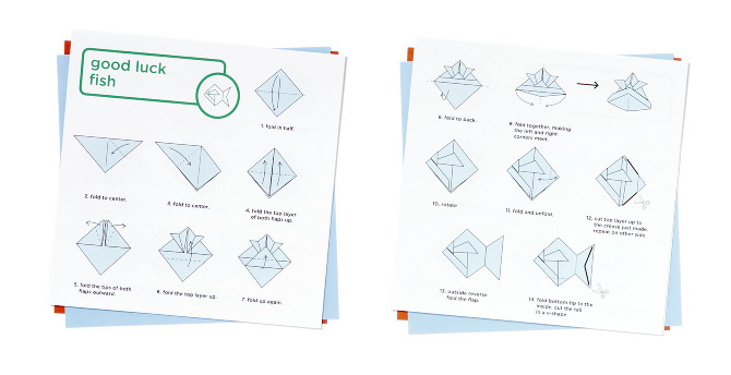 It Also Includes Folding Instructions For Three Origami Animals Of Varying Difficulty A Greeting And Sheet On Which To Mark Your Holiday Gift Choice