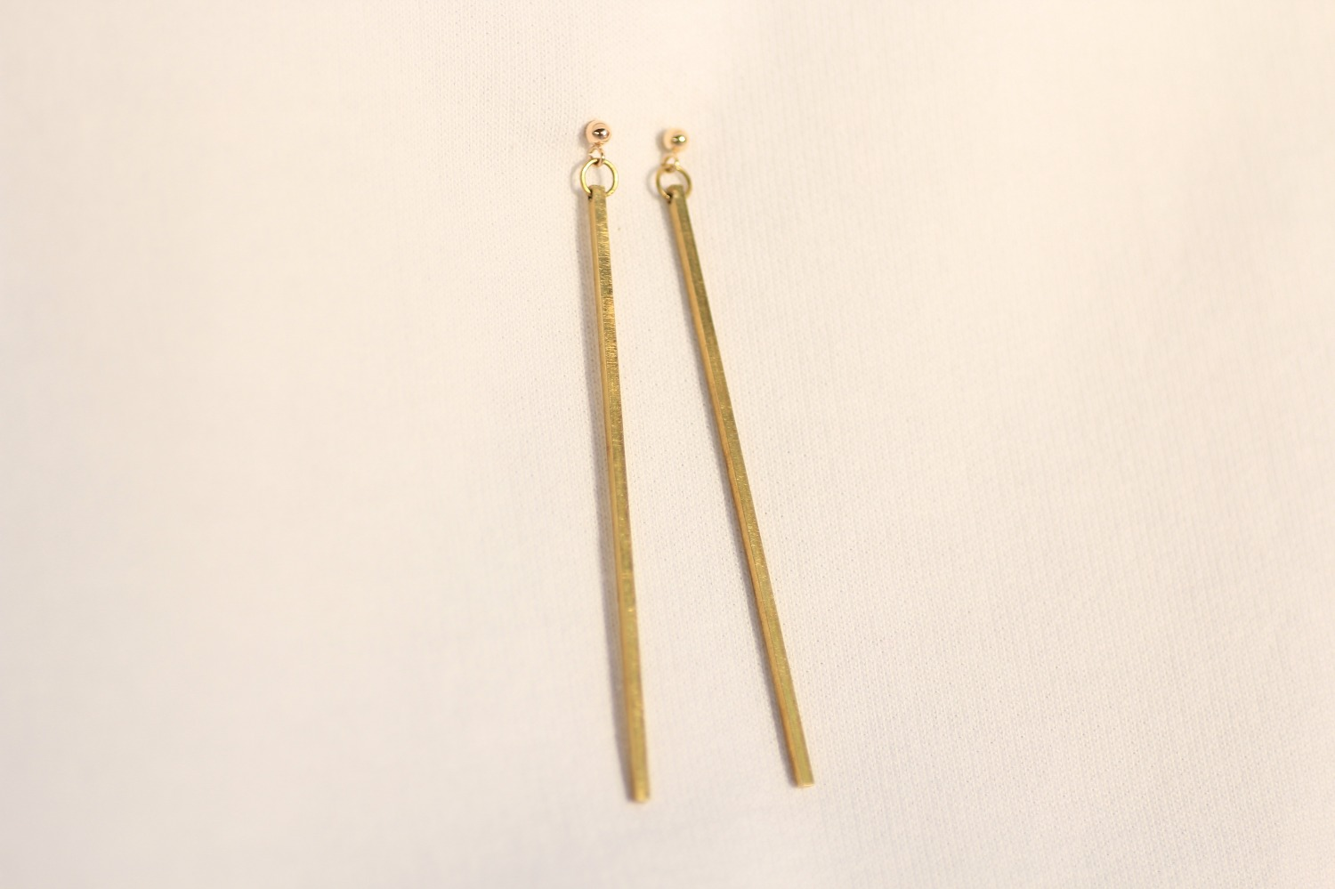 il earrings silver market etsy minimal rod bar sterling stud