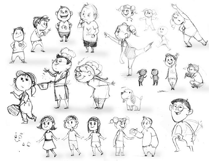 healthy kids concept elisa takagis online portfolio - Sketch Images For Kids